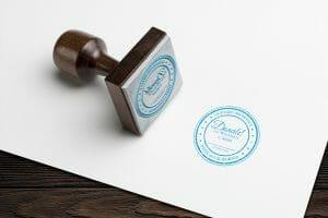 DesignerKen Graphics - Architect Seal Logo Stamp