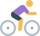 Person in shorts riding a bicycle