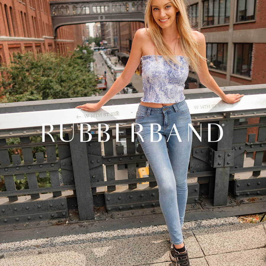 Rubberband Stretch Brand Badge
