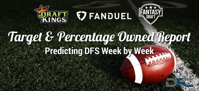 NFL Target & Percentage Ownership Report: Week 1