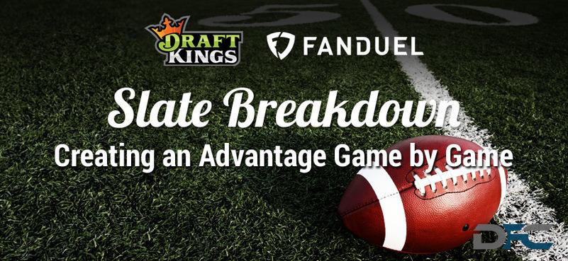 NFL Week 2 Slate Breakdown