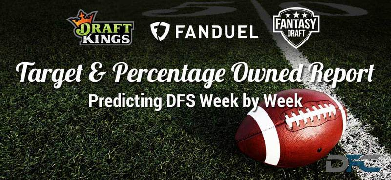 NFL Target & Percentage Ownership Report: Week 16