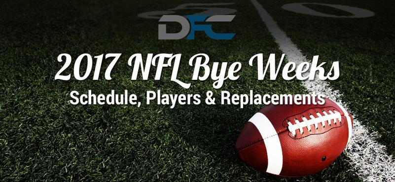 NFL Bye Weeks Schedule