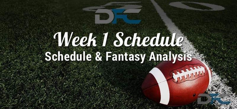 NFL Week 1 Schedule 2017