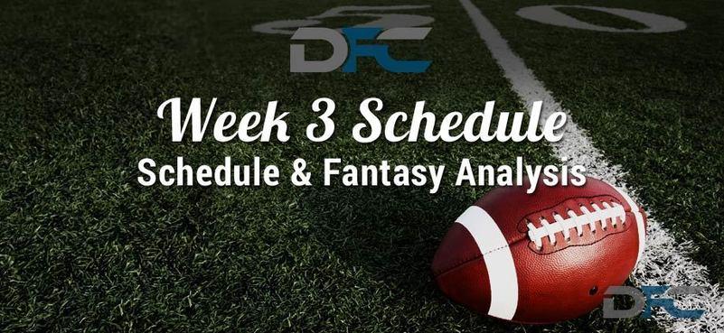 NFL Week 3 Schedule 2017