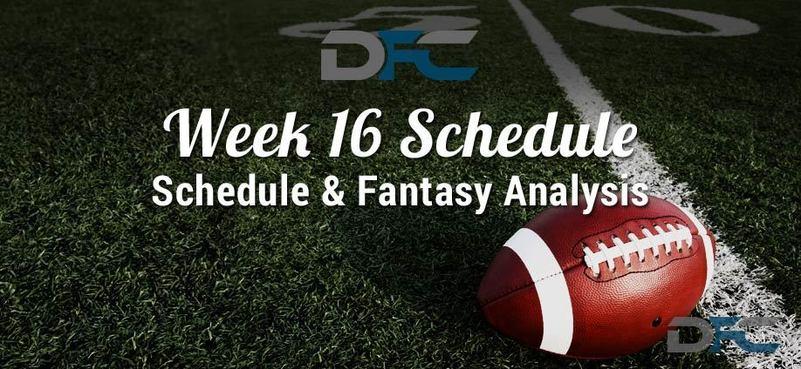 NFL Week 16 Schedule 2017