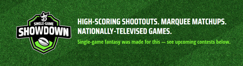 ​DraftKings Single Game Showdown