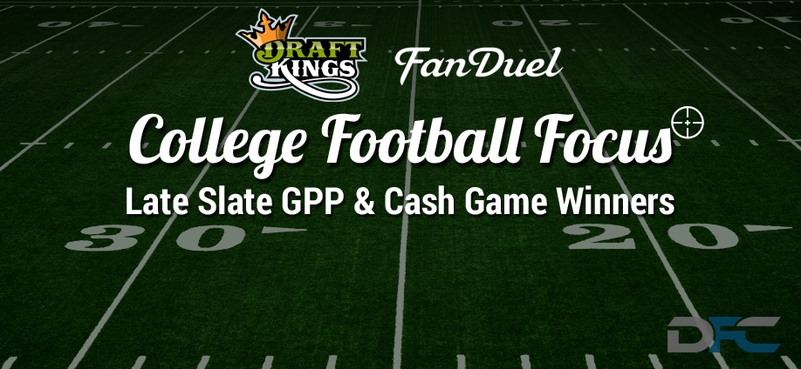 College Football Focus: DraftKings & FanDuel Late Slate Picks 10-3-15