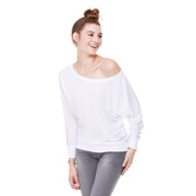 Bella Flowy Long Sleeve Off Shoulder T-Shirt