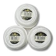 White Pearl Cotton Crochet Thread