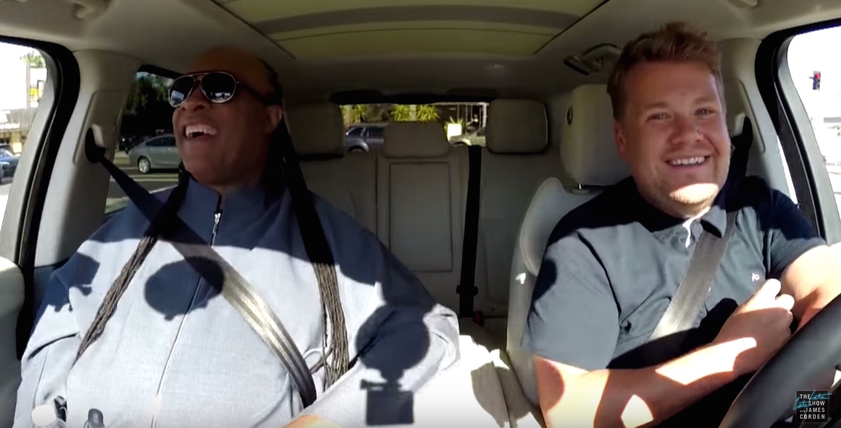 STEVIE WONDER AND JAMES CORDEN