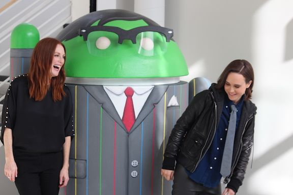 Julianne Moore and Ellen Page MediaOne Studios