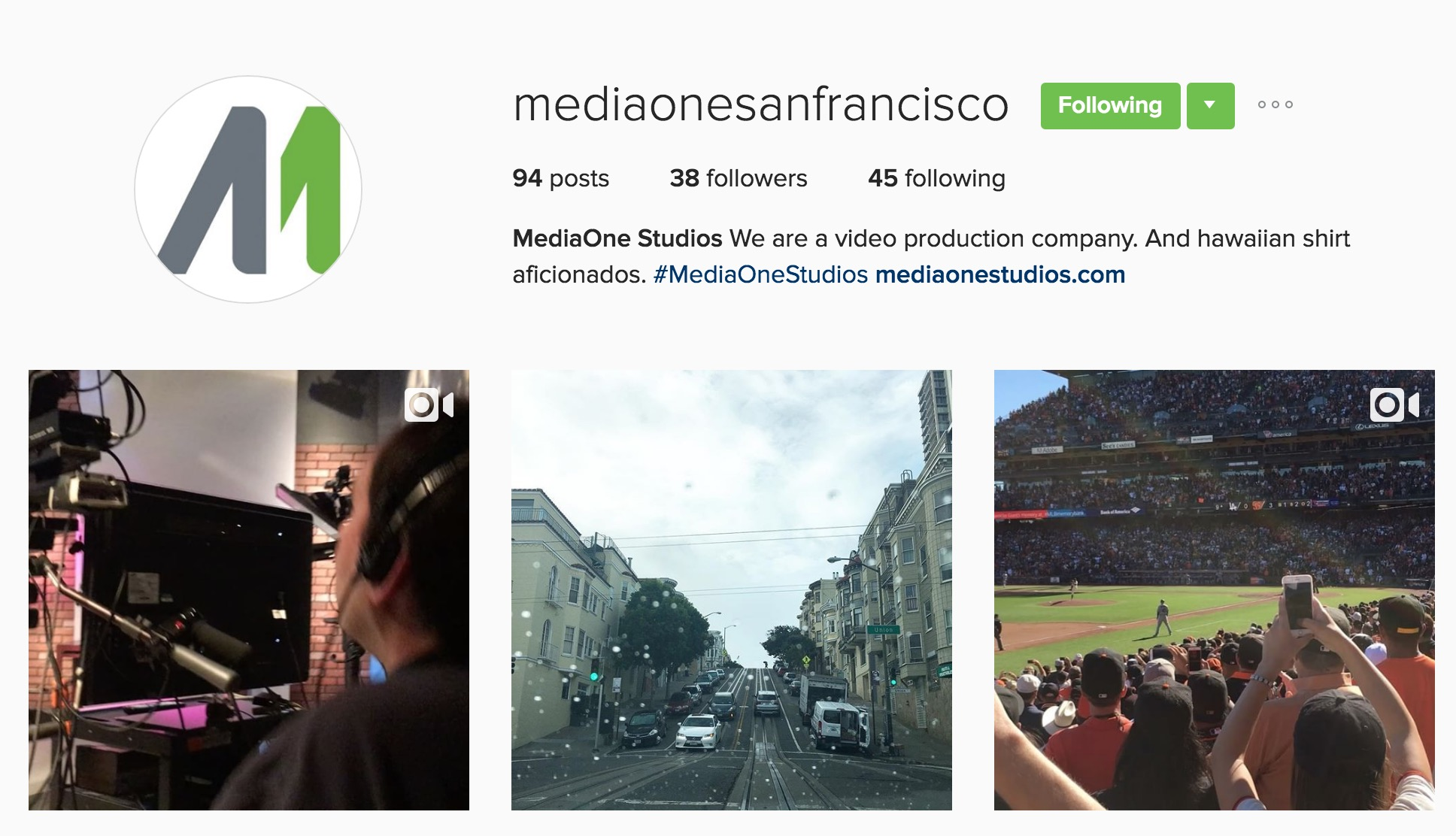 MediaOne Studios Instagram