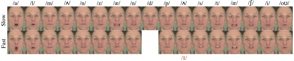 The Effect of Speaking Rate on Audio and Visual Speech-Image