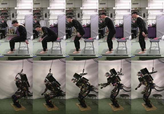 Sit-to-Stand Task on a Humanoid Robot from Human Demonstration
