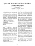 Opportunistic Wireless Communication in Theme Parks- A Study of Visitors Mobility-Thumbnail
