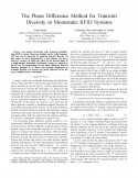 The Phase Difference Method for Transmit Diversity in Monostatic RFID Systems-Thumbnail