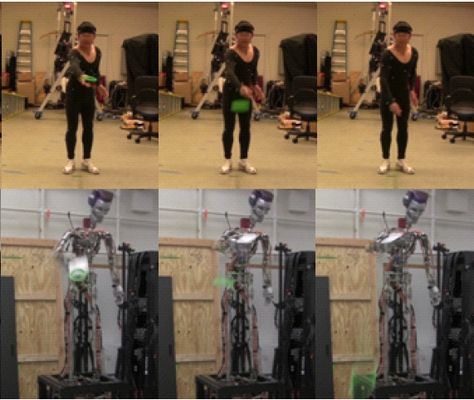Extraction of Person-specific Motion Style based on a Task Model and Imitation by Humanoid Robot