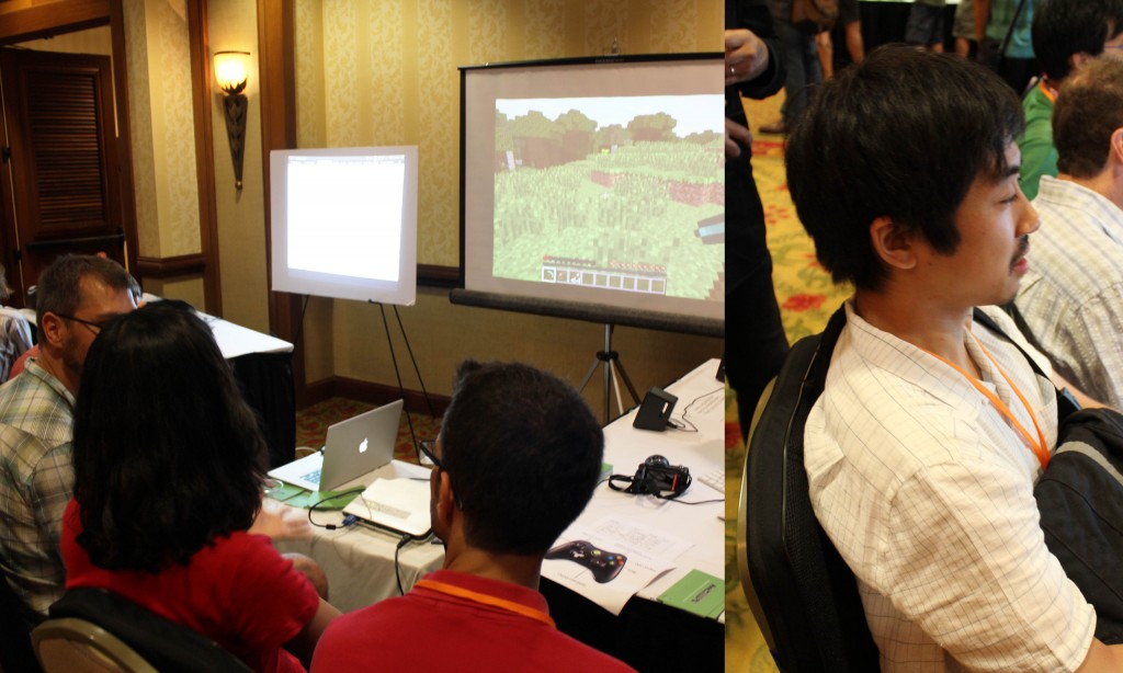Demonstration of FeelCraft in UIST 2014 Hawaii.