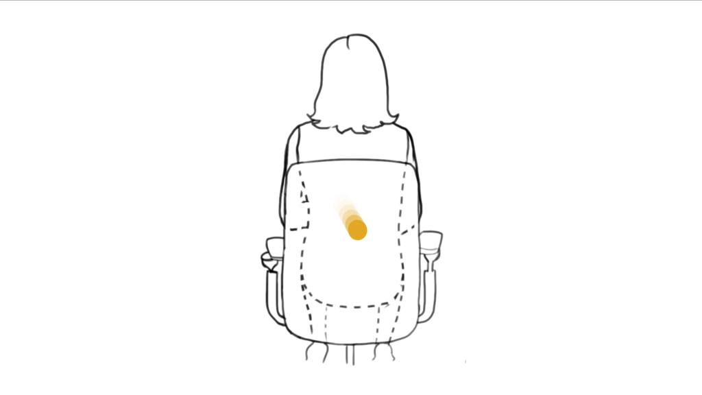 Haptic animation feedback is played back on a single user.