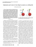 Optimization and Control of Cyclic Biped Locomotion on a Rolling Ball-Thumbnail