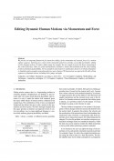 Editing Dynamic Human Motions via Momentum and Force-Thumbnail