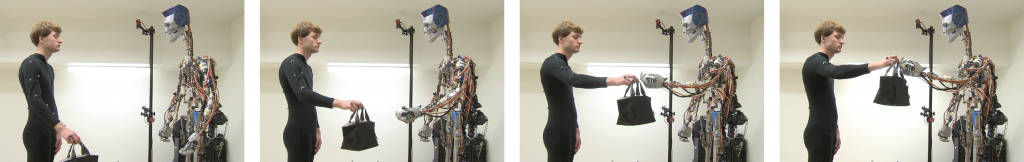 Synthesizing Object Receiving Motions of Humanoid Robots with Human Motion Database-Image
