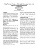 Robo Fashion World- A Multimodal Corpus of Multi-child Human-Computer Interaction-Thumbnail