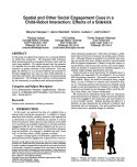 Spatial and Other Social Engagement Cues in a Child-Robot Interaction- Effects of a Sidekick-Thumbnail