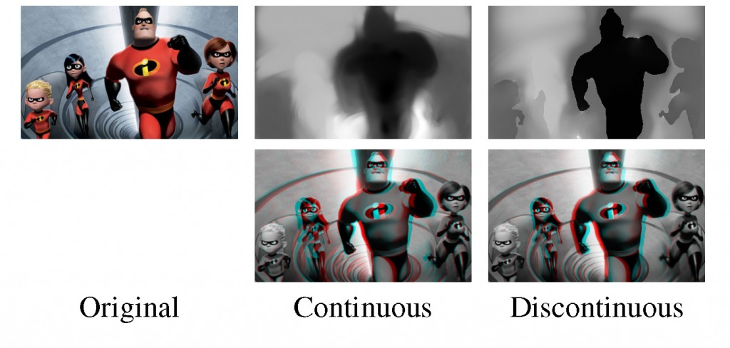 StereoBrush- Interactive 2D to 3D Conversion Using Discontinuous Warps-Image