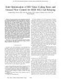 Joint Optimization of HD Video Coding Rates and Unicast Flow Control for IEEE 802.11ad Relaying-Thumbnail