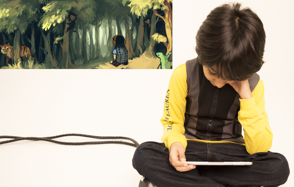 Using Haptic Feedback to Enrich Story Listening for Young Children-Image