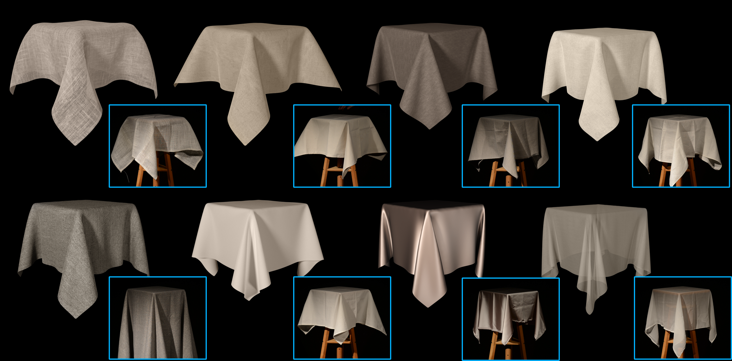 Sackcloth or Silk? The Impact of Appearance vs Dynamics on the Perception of Animated Cloth-Image