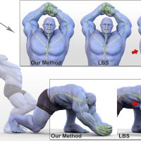 Real-time Skeletal Skinning with Optimized Centers of Rotation-Image