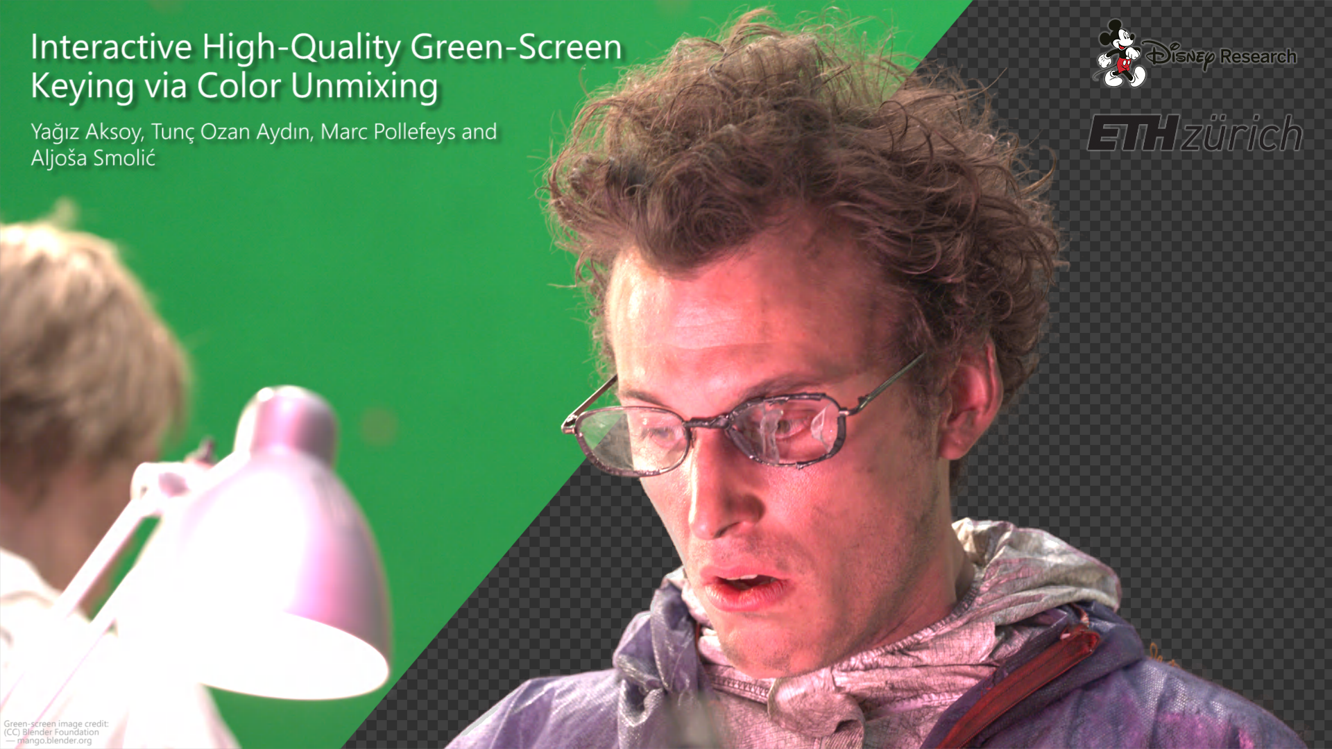 Interactive High-Quality Green-Screen Keying via Color Unmixing-Image