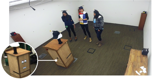 Towards Robot Autonomy in Group Conversations- Understanding the Effects of Body Orientation and Gaze-Image