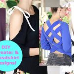 Diy Sweater Design Slicing Concepts! Diy Sweater / Sweatshirt Reconstruction