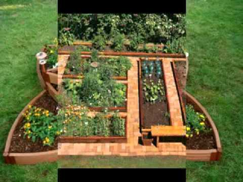 DIY Raised vegetable garden decorating ideas
