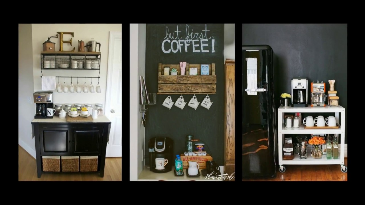 50+ Home Coffee Bar Ideas – DIY Home Decor Inspiration