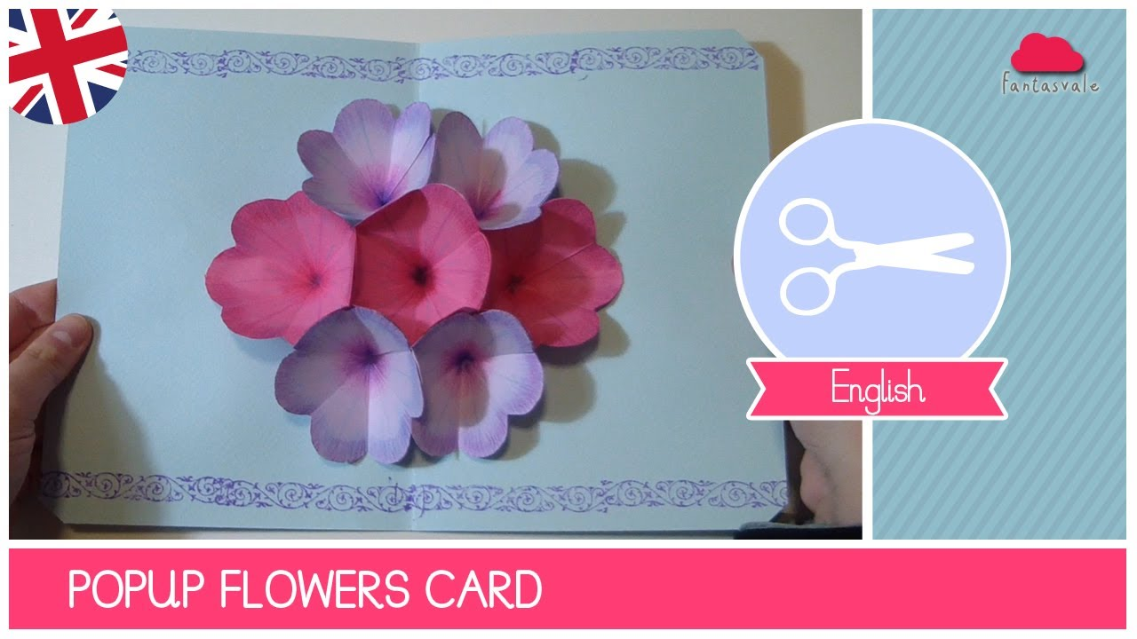 Mother's Day Greeting Card with POP UP FLOWERS – DIY Ideas by Fantasvale