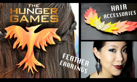 DIY The Hunger Games Accessories [Hair Clips & Feather Earrings]