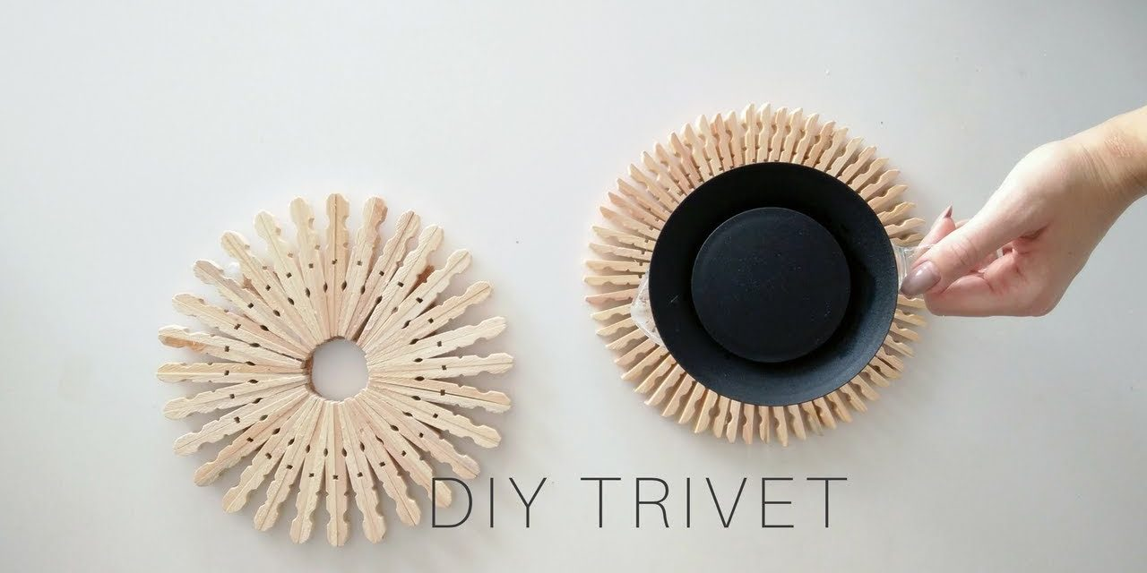 Clothespin crafts | DIY Wooden Trivet