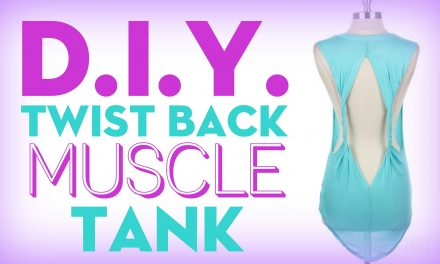 DIY Twist Back Muscle Tank with Stilababe09! (No Sew)