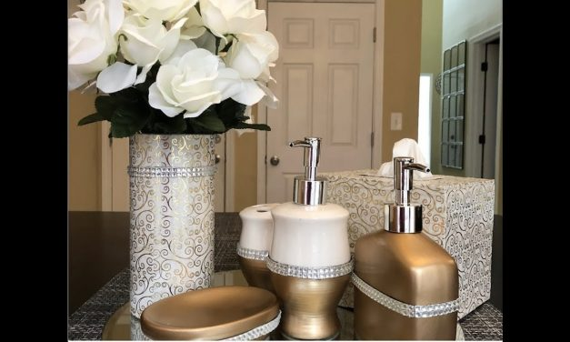 Dollar Tree DIY – 💕 Glam Bathroom Accessories 💕