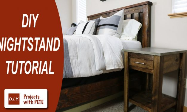 How to make a Nightstand | DIY Nightstand | Concrete Nightstand