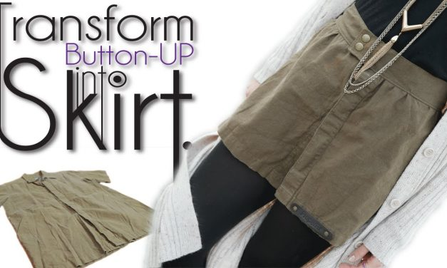 Easy DIY Clothing Transformation: Button Up into Skirt