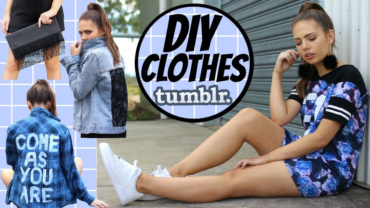 Easy & Affordable DIY Clothes | Tumblr Inspired Fashion