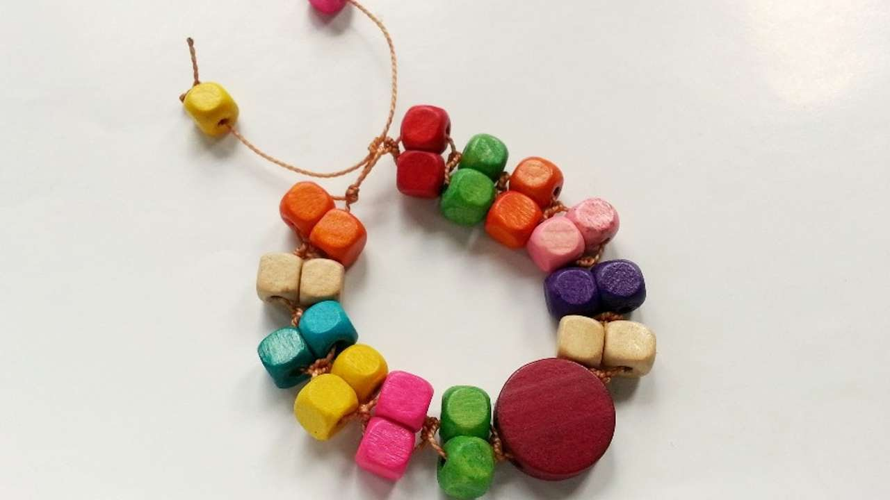 How To Make Colorful Wood Beaded Bracelet – Do it yourself Crafts Tutorial – Guidecentral