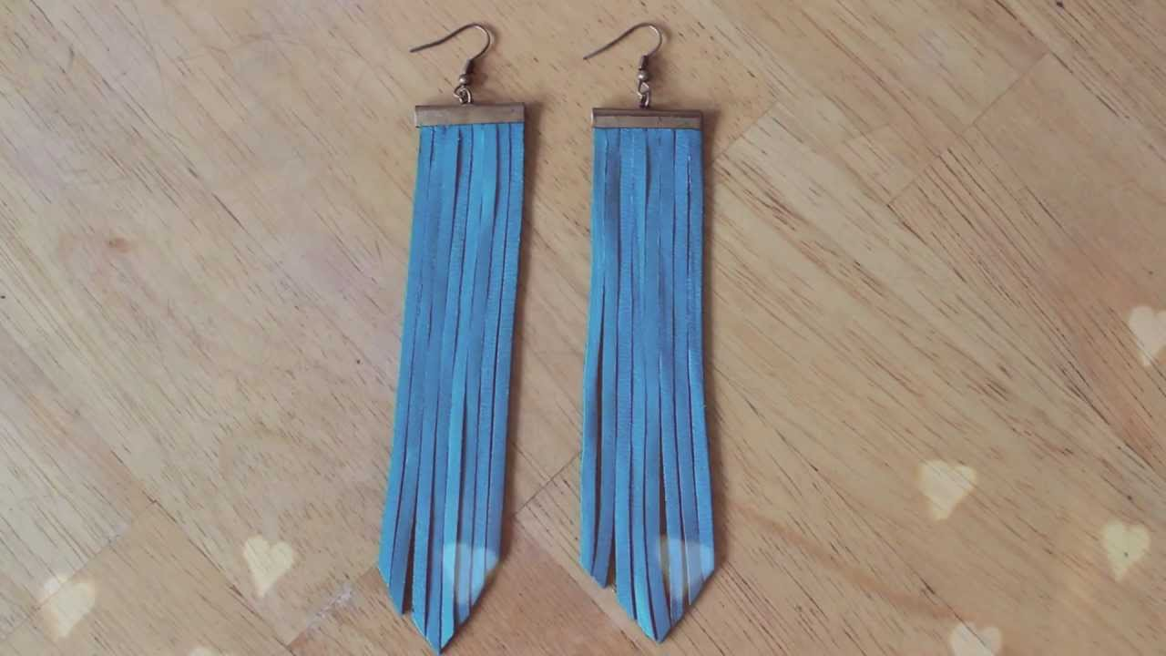 DIY : Boho Fringe Earrings (accessories for spring/summer 2013)