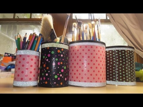 #TrashToTreasure ~ CAC ~ DIY Recycled Arts and Crafts Storage